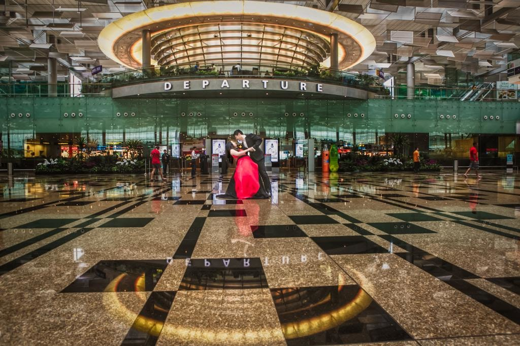 Indoor Wedding Photography Location and Venue Changi Airport Singapore