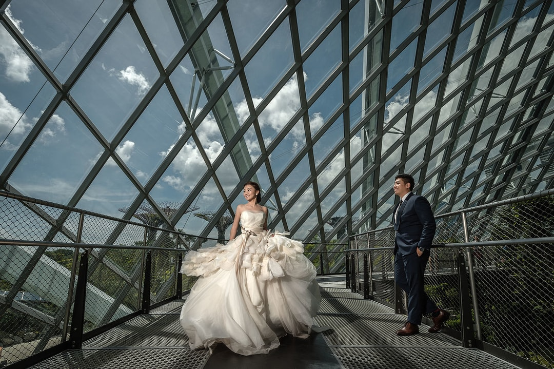 Indoor Wedding Photography Location and Venue Gardens By The Bay Singapore