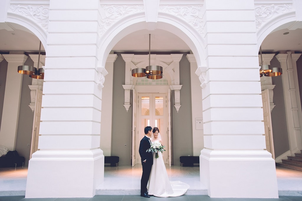 Indoor Wedding Photography Location and Venue National Museum Singapore